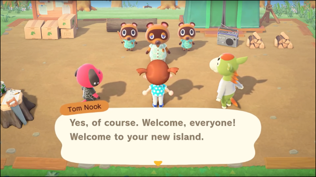 un groupe d'animaux dans Animal Crossing: New Horizons