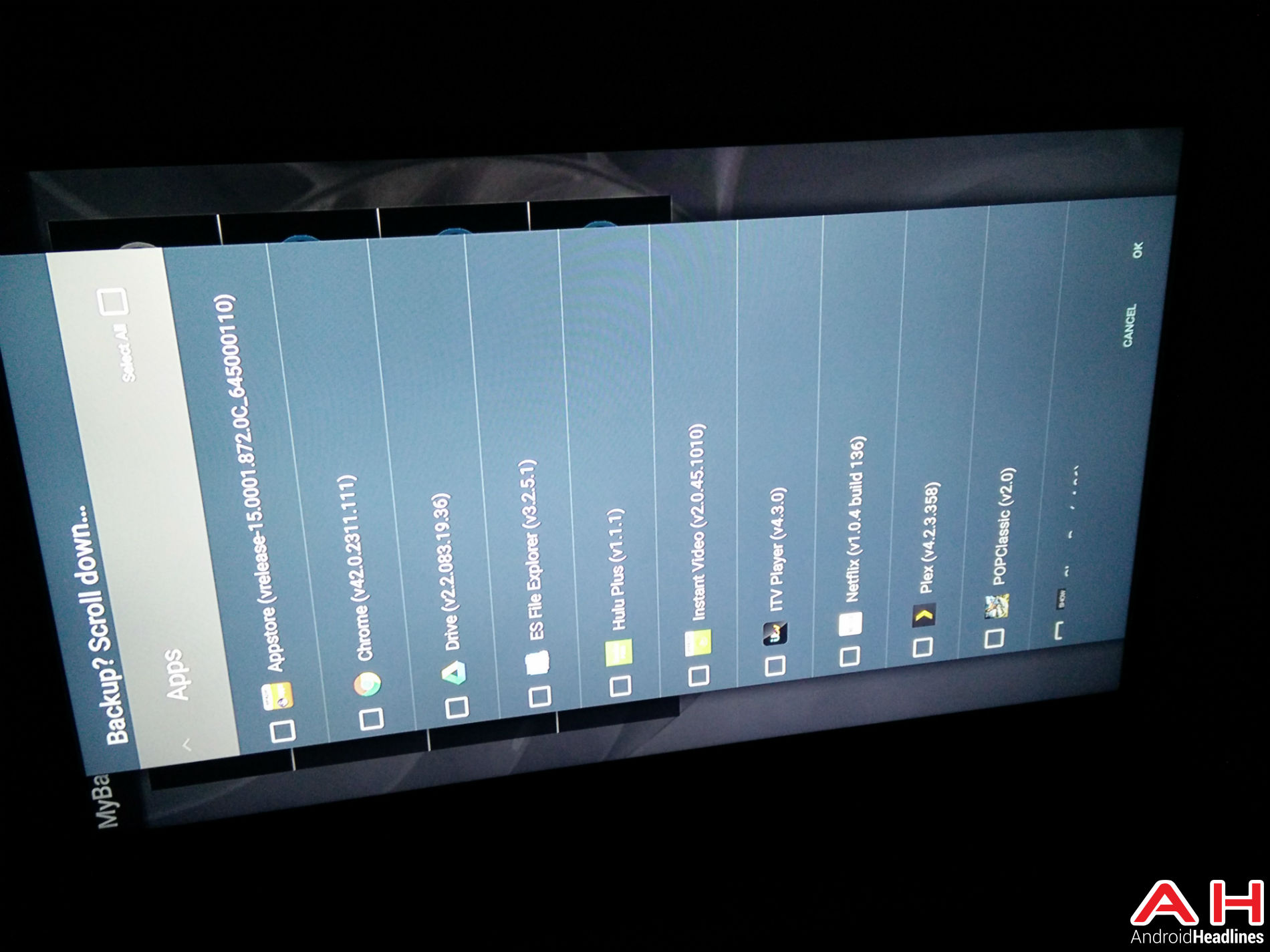 Android TV My Backup 17