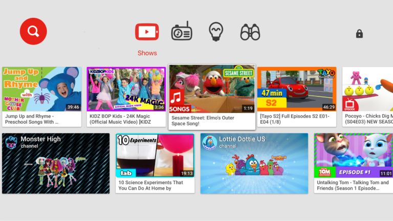 youtube enfants android tv 1