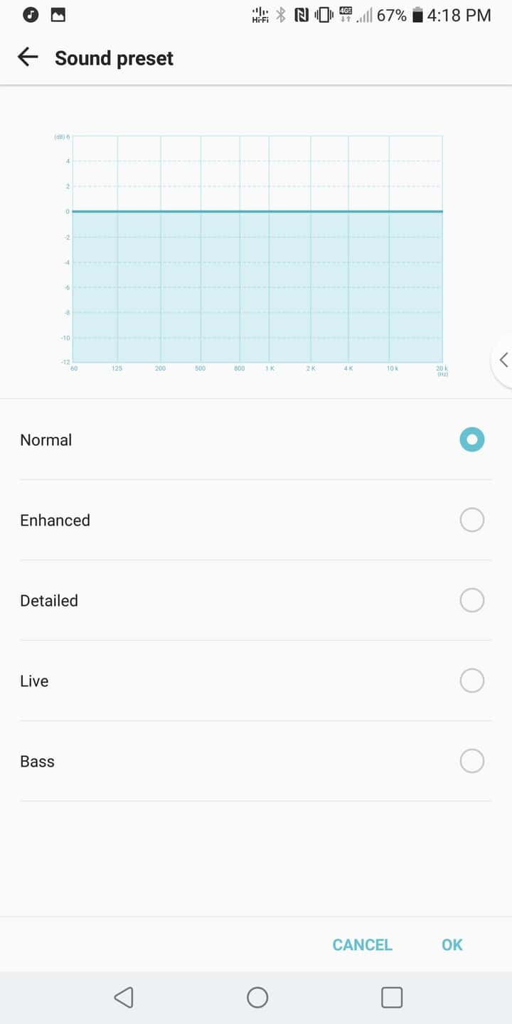 LG V30 AH NS Captures d'écran audio 2