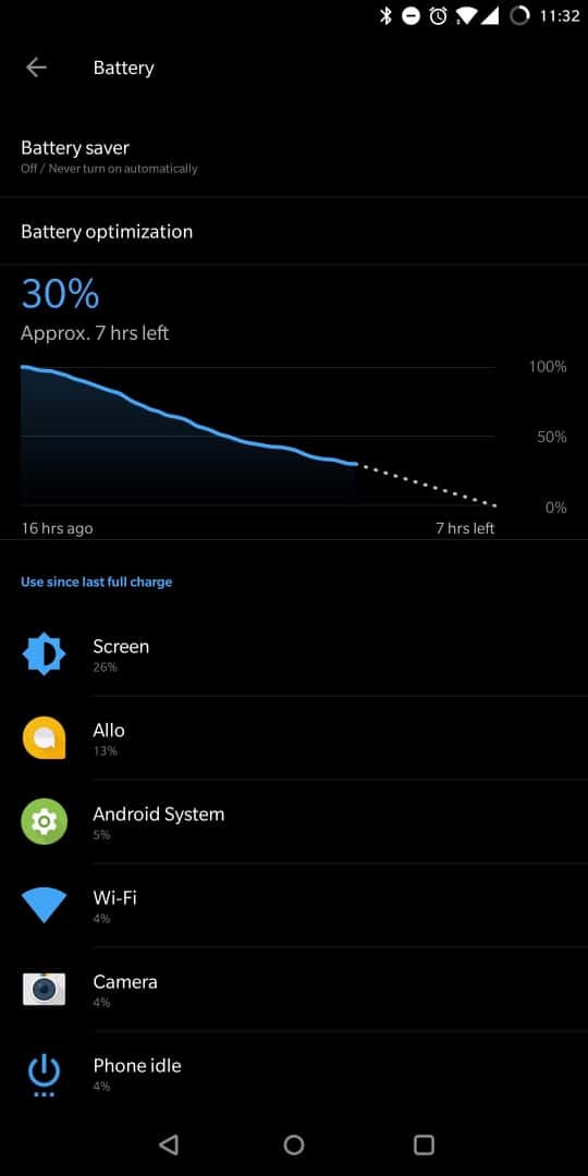OnePlus 5T AH NS Screenshots batterie 1