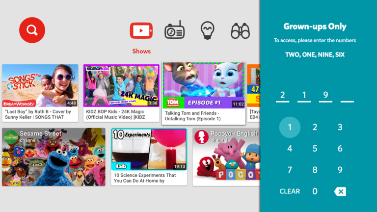 youtube kids android tv 4