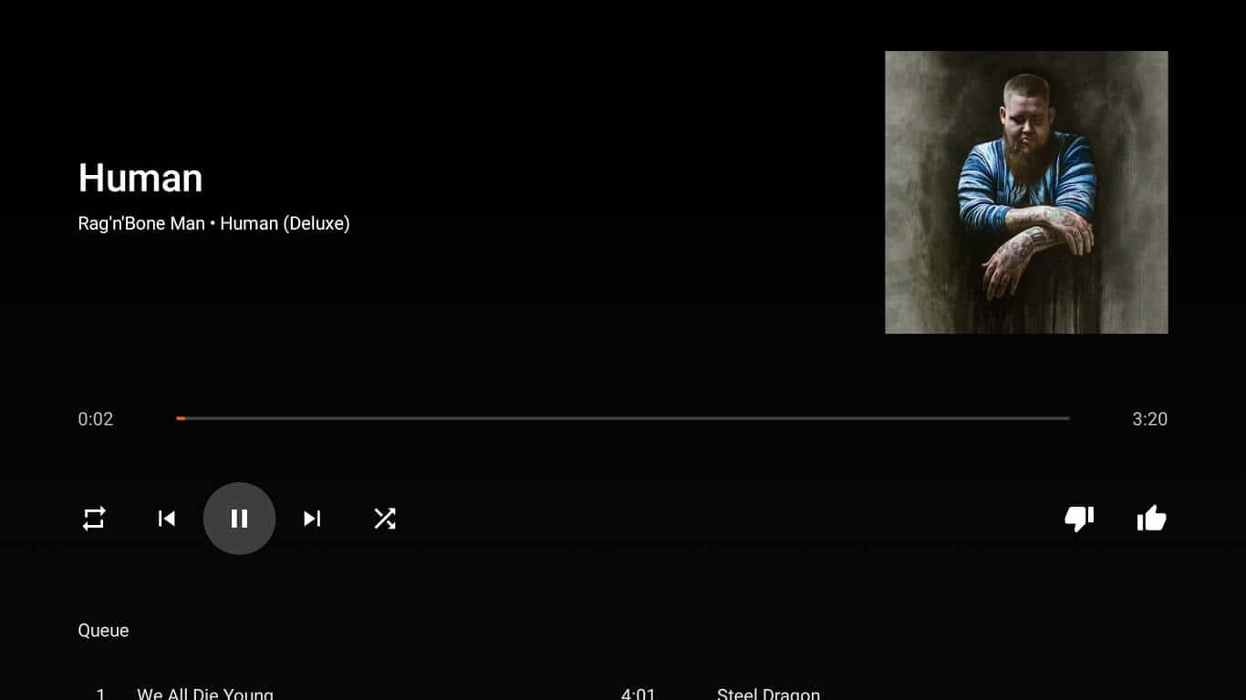 Refonte de Google Play Musique Android TV 7