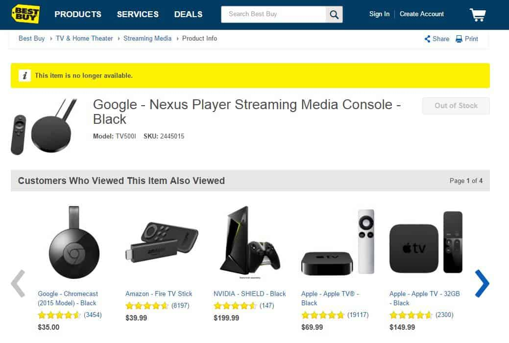 Best Buy Nexus Player