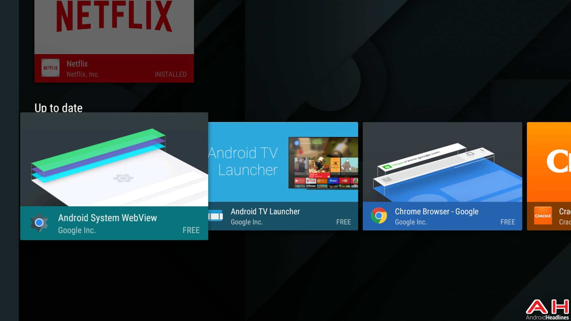 Mise à jour Android TV Play Store AH 5