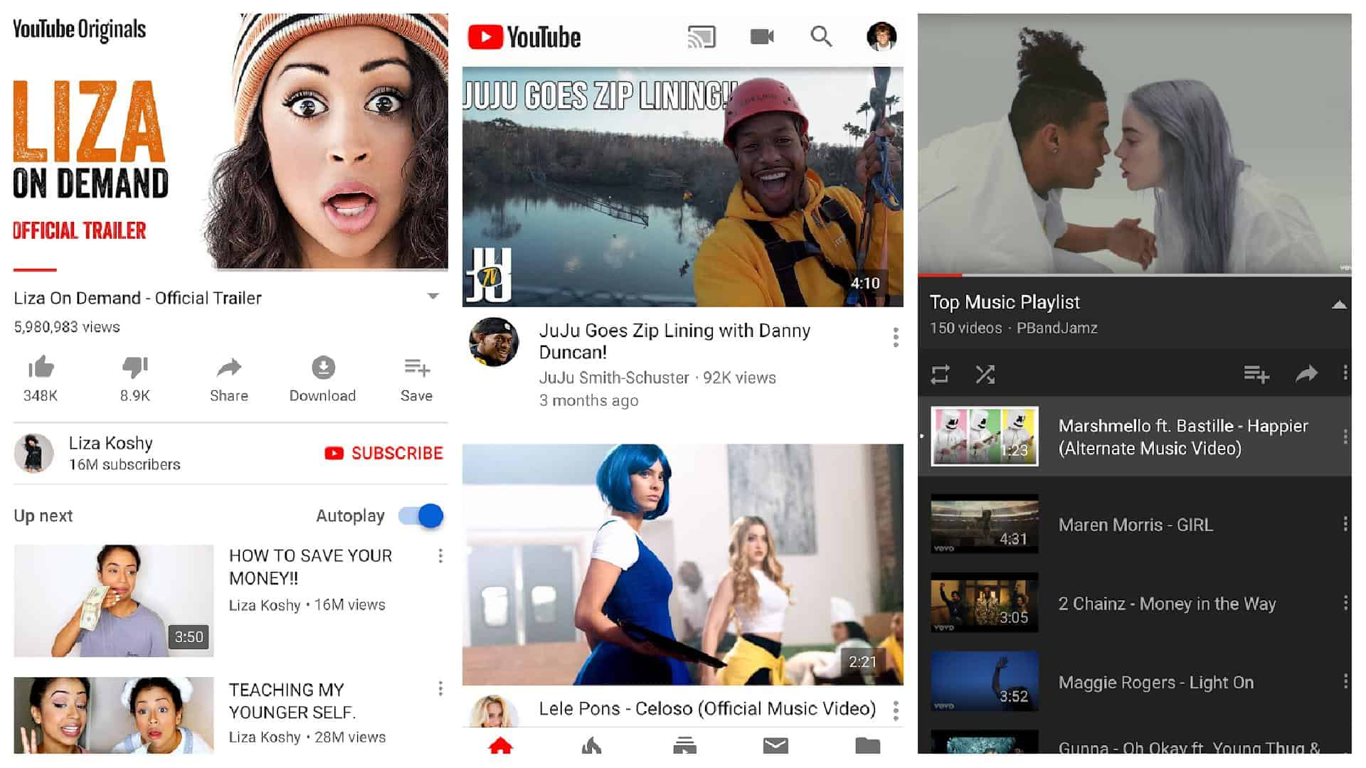 Grille d'applications YouTube 1