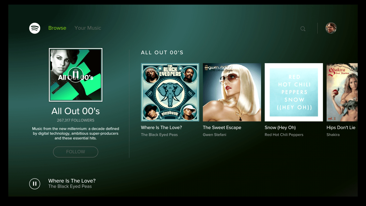 Spotify Android TV 2